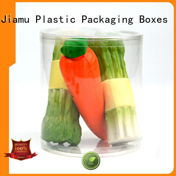 clear plastic tube packaging small plastic tube packaging Jiamu Brand