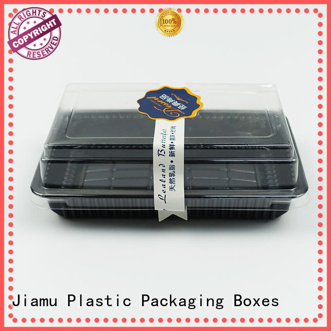 Invisible Plastic Cake Container with Clear Lid in Stock or Customized