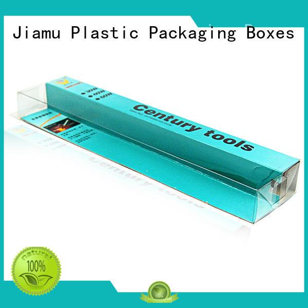 gift transparent pvc folding box customized Jiamu Brand