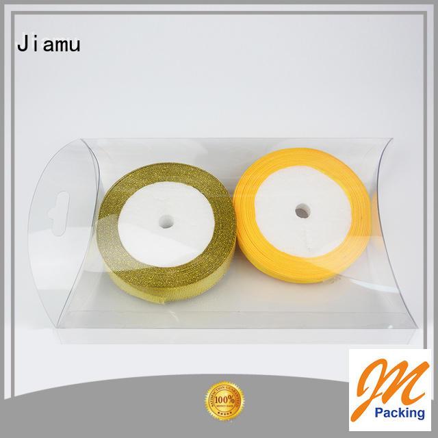 Jiamu Brand logo small pack pvc folding box manufacture