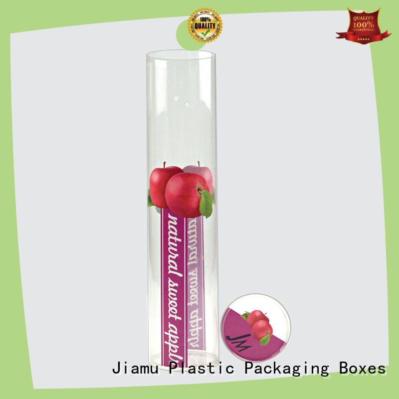 Jiamu latest small plastic tube packaging for toy