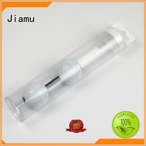 Jiamu Brand design pack handle custom clear plastic tube packaging
