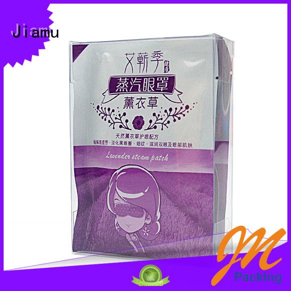 Jiamu Brand gift rectangle transparent stationary pvc folding box