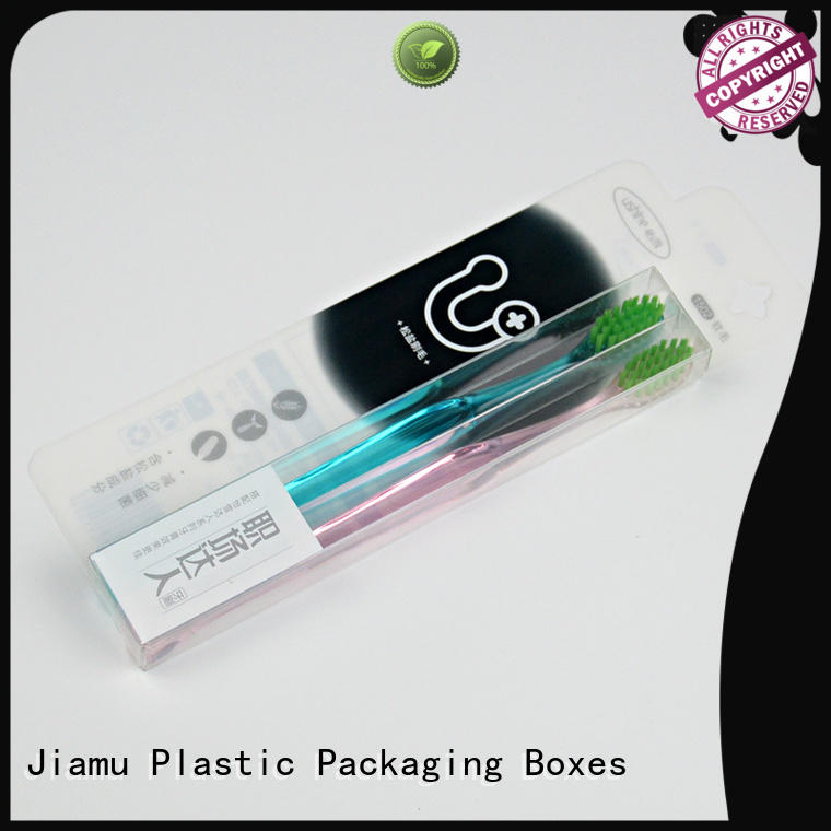 Wholesale shaped small plastic packaging boxes cream Jiamu Brand