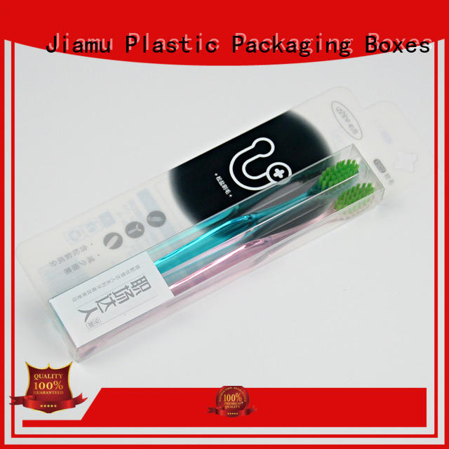 Jiamu storage plastic retail packaging boxes from China for stationary