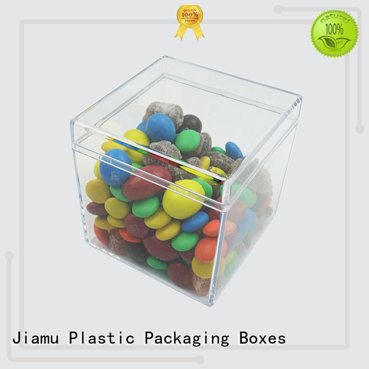 Jiamu multifunction plastic cake container supply for gift
