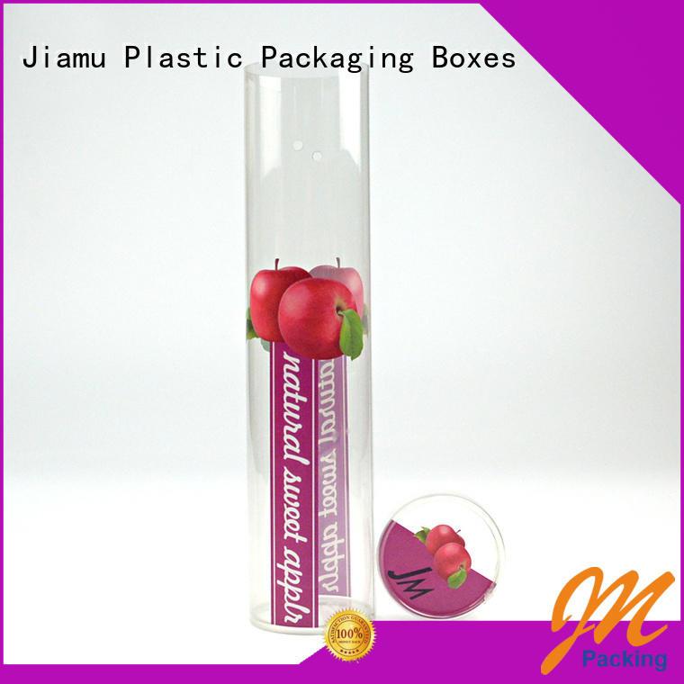 Custom Printing Plastic Apple Fruit Round Tube Packaging