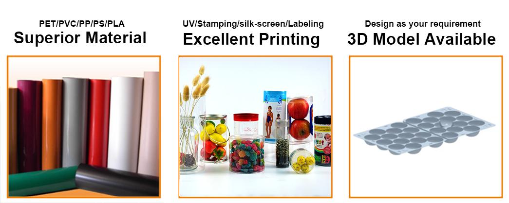 Jiamu-Custom Printing Plastic Apple Fruit Round Tube Packaging | Plastic Cylinder-1