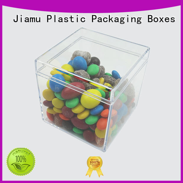 Jiamu box plastic cake box supply for craft
